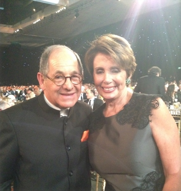 Mobilium Global's CEO Ralph Simon meets Nancy Pelosi at Musicares Person of the Year 2014
