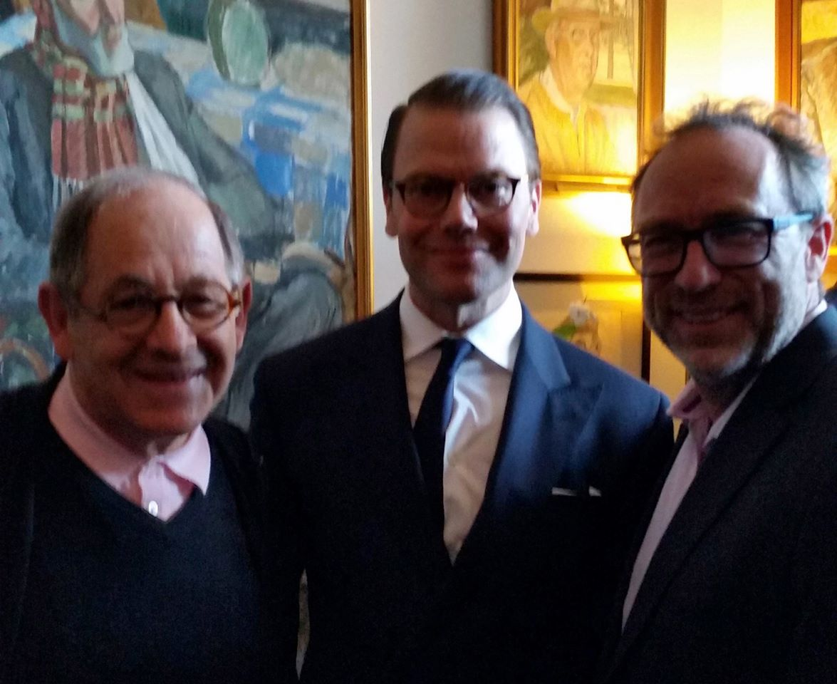 Dateline:  Stockholm – Meeting Crown Prince of Sweden, Prince Daniel  & Wikipedia founder, Jimmy Wales