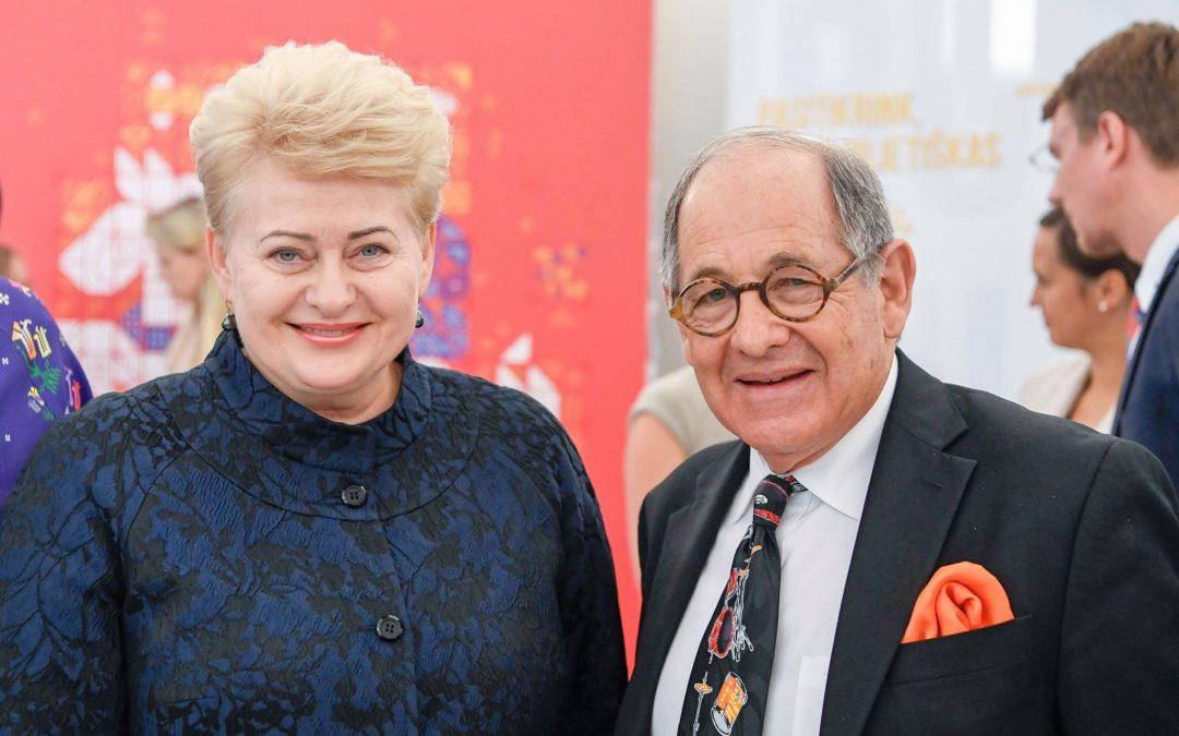 Dateline:  Presidential Palace, Vilnius, Lithuania Lithuanian President Dalia G…